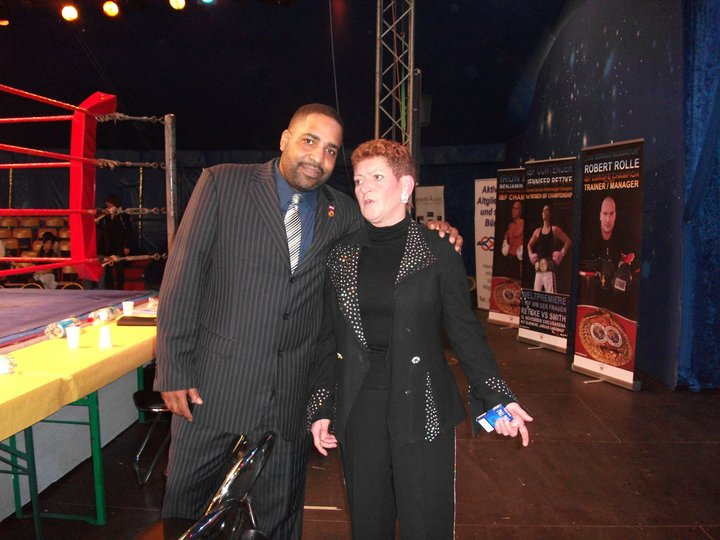 IBF President Daryl Peoples with Eva Rolle